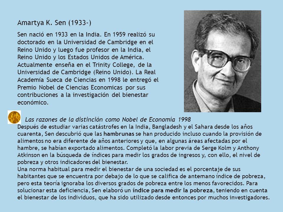 Amartya K. Sen (1933-)