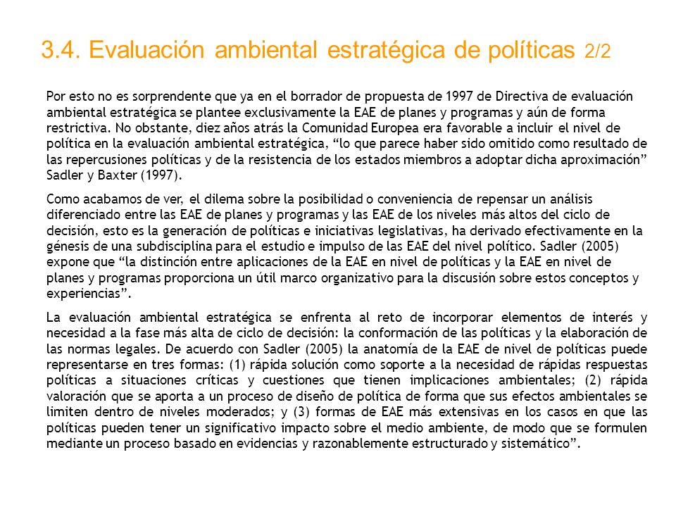 3.4. Evaluación ambiental estratégica de políticas 2/2