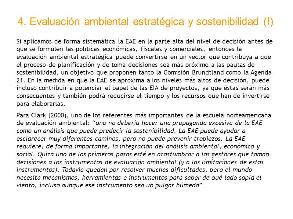 4. Evaluación ambiental estratégica y sostenibilidad (I)