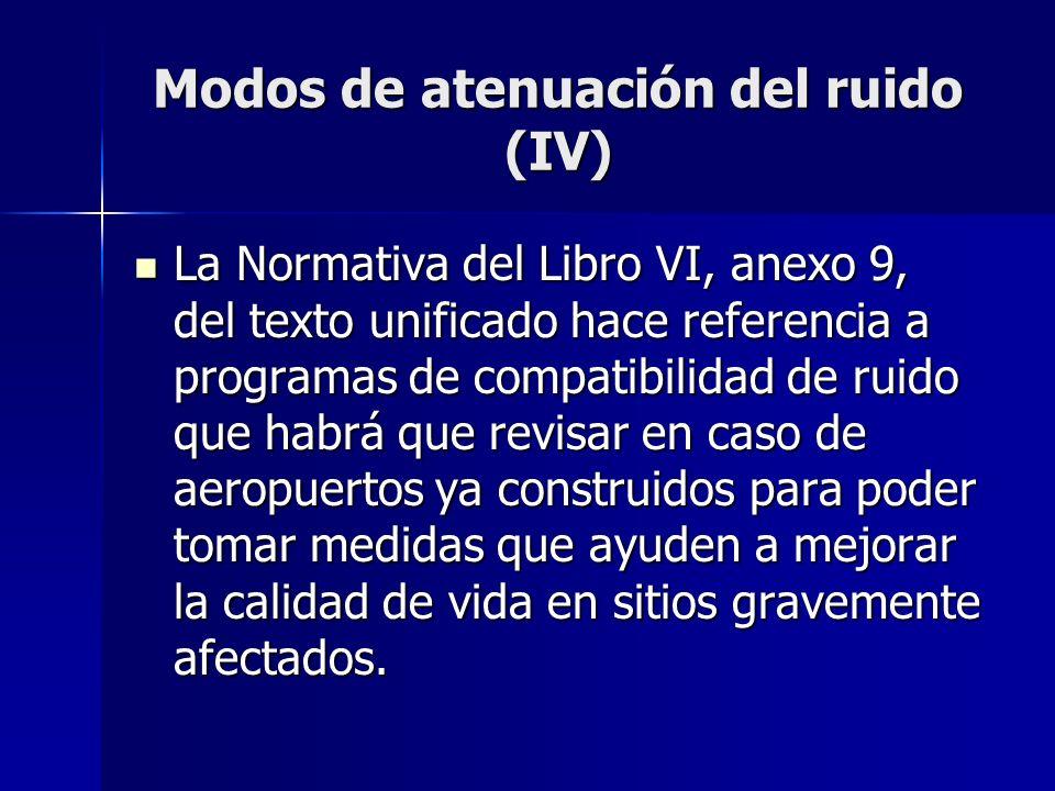 Modos de atenuación del ruido (IV)
