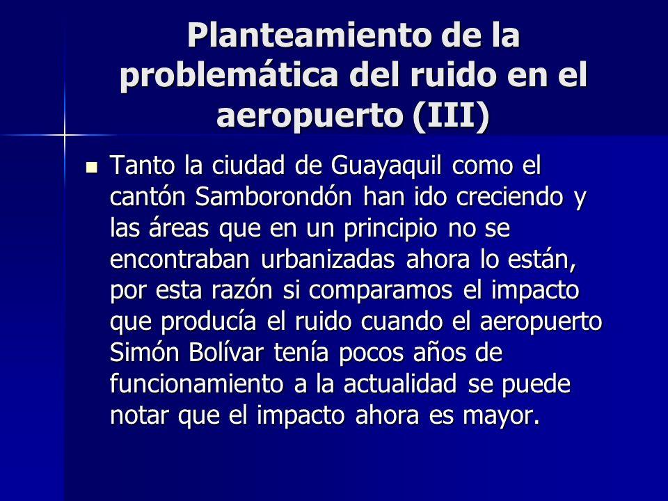 Planteamiento de la problemática del ruido en el aeropuerto (III)