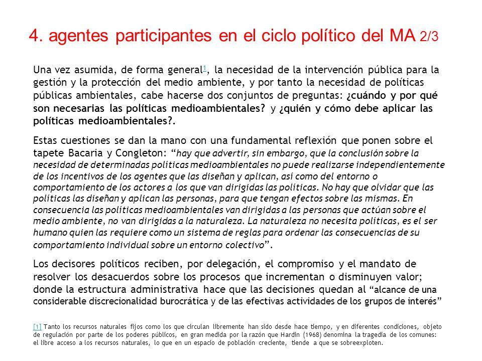 4. agentes participantes en el ciclo político del MA 2/3