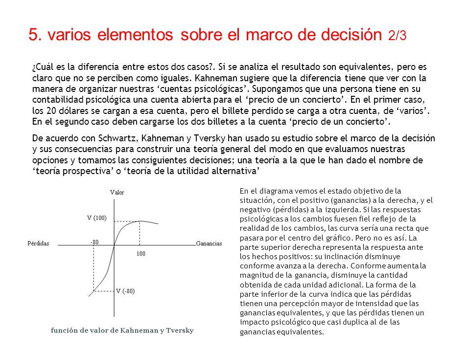 5. varios elementos sobre el marco de decisión 2/3