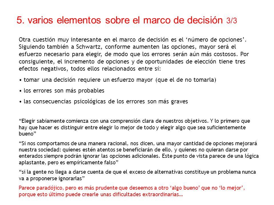 5. varios elementos sobre el marco de decisión 3/3