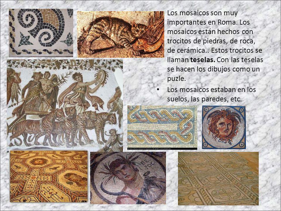 Los mosaicos son muy importantes en Roma