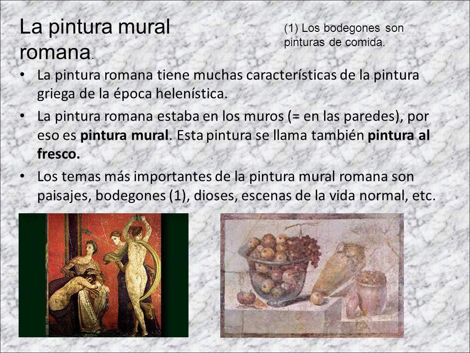 La pintura mural romana.