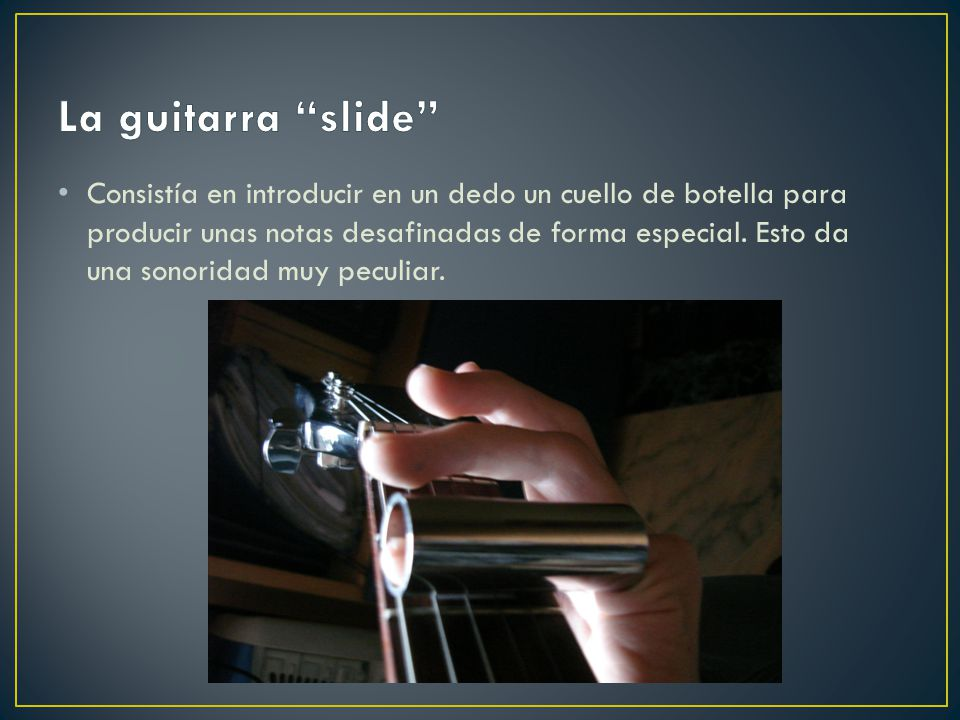 La guitarra slide