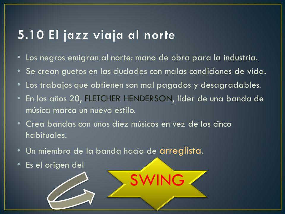 SWING 5.10 El jazz viaja al norte