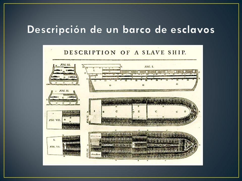 Descripción de un barco de esclavos