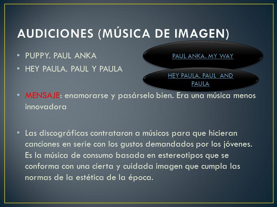 AUDICIONES (MÚSICA DE IMAGEN)