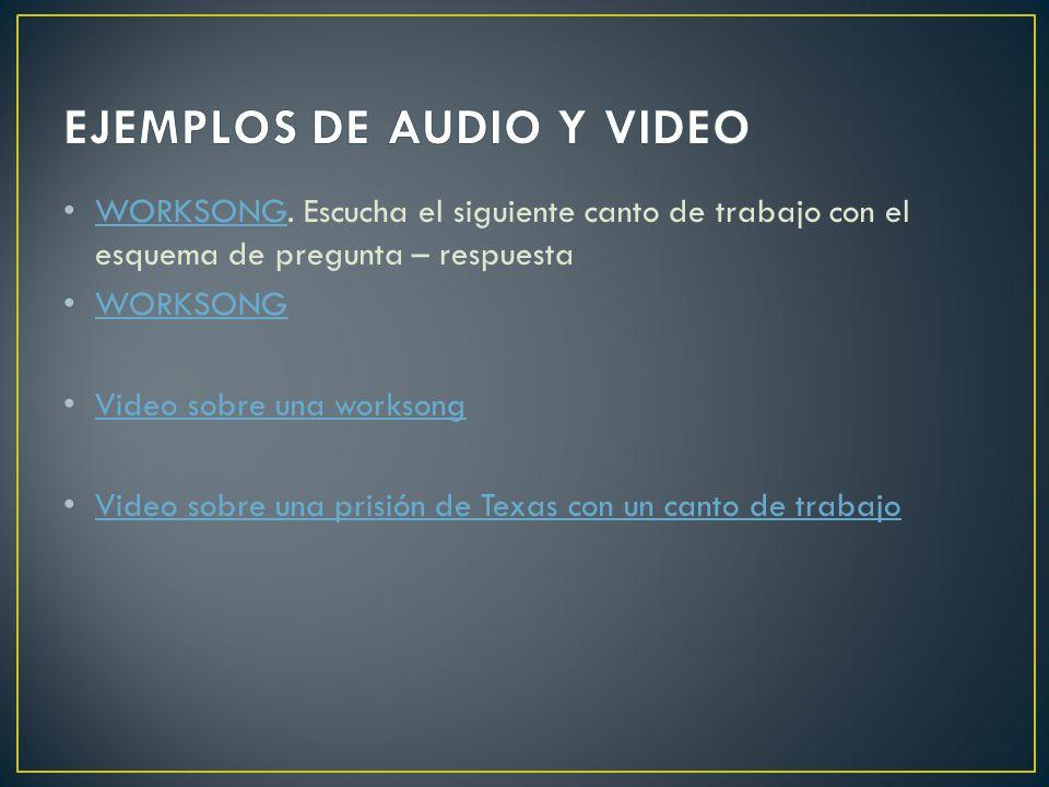 EJEMPLOS DE AUDIO Y VIDEO