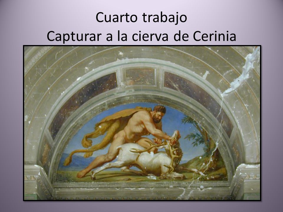 Cuarto trabajo Capturar a la cierva de Cerinia