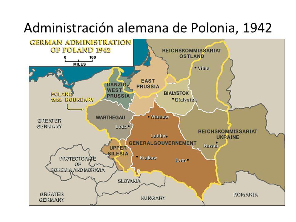 Administración alemana de Polonia, 1942