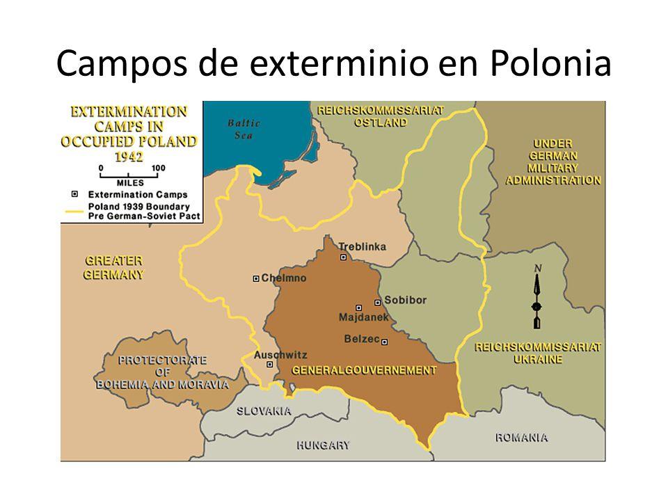 Campos de exterminio en Polonia