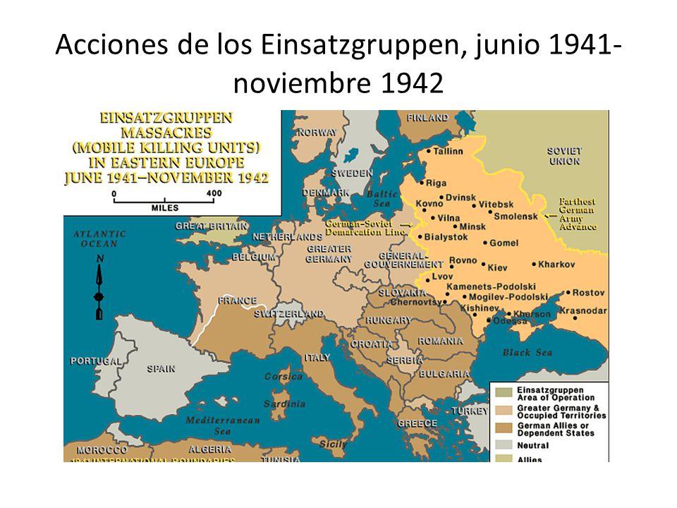 Acciones de los Einsatzgruppen, junio 1941-noviembre 1942