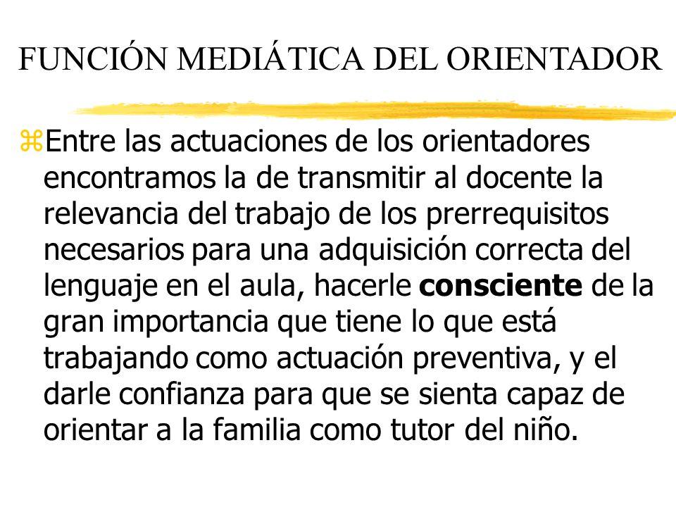 FUNCIÓN MEDIÁTICA DEL ORIENTADOR