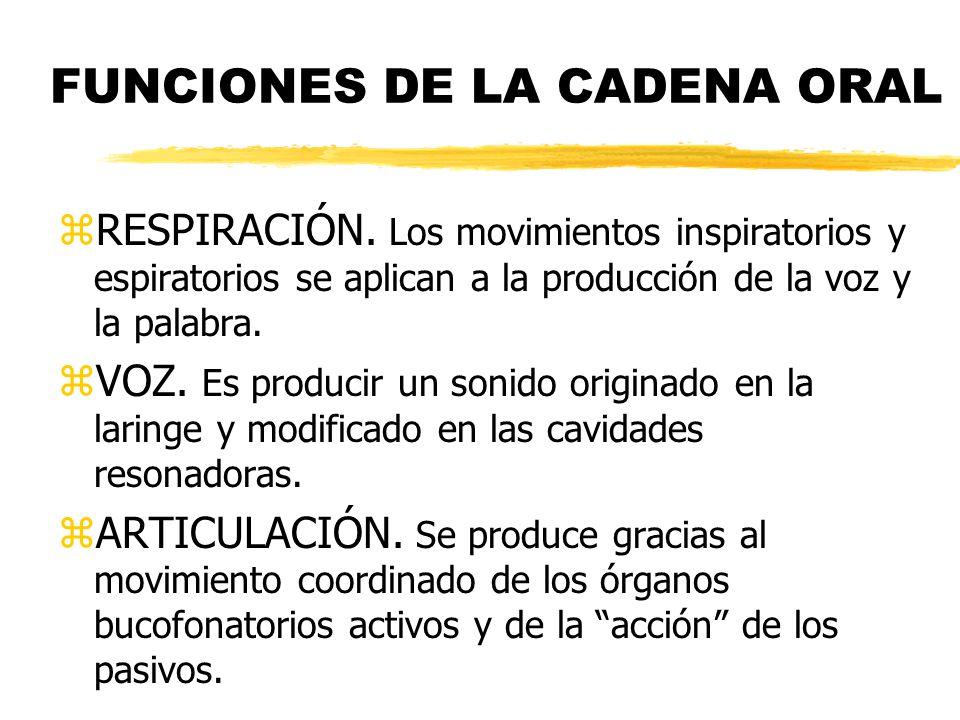 FUNCIONES DE LA CADENA ORAL
