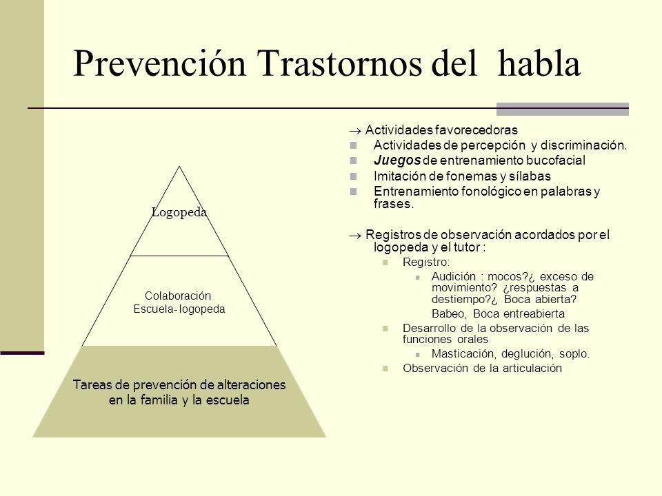 Prevención Trastornos del habla