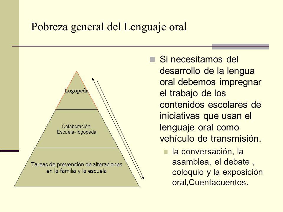Pobreza general del Lenguaje oral