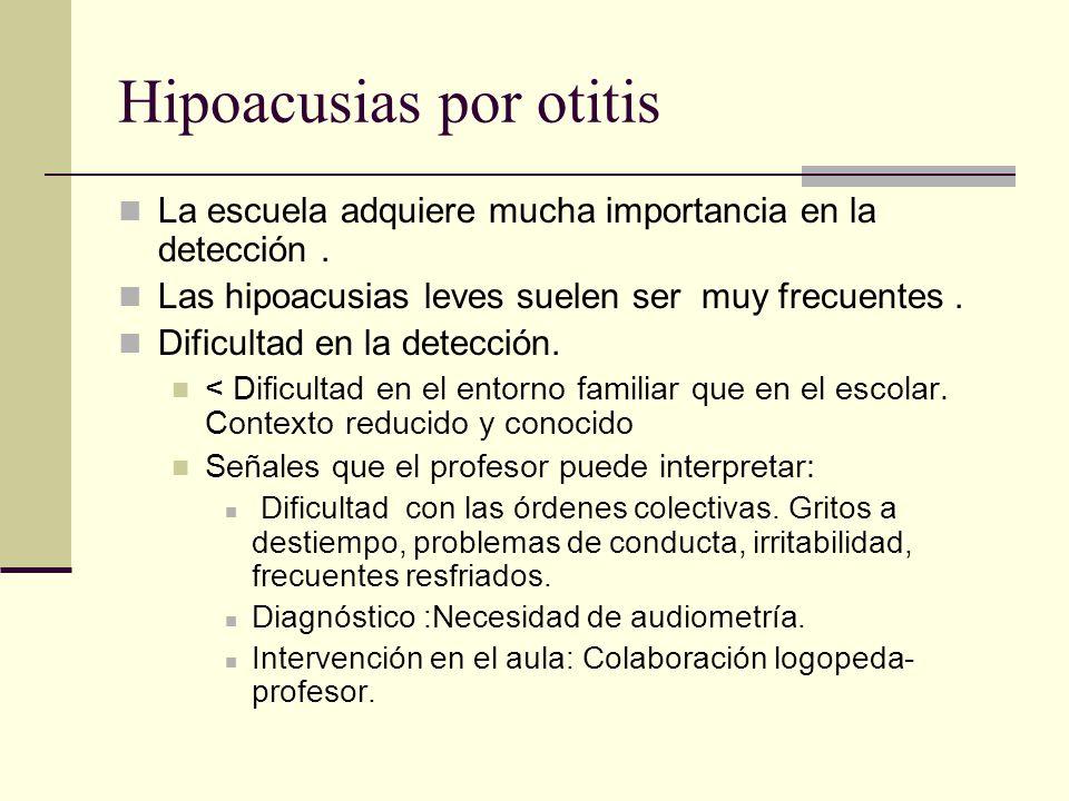 Hipoacusias por otitis