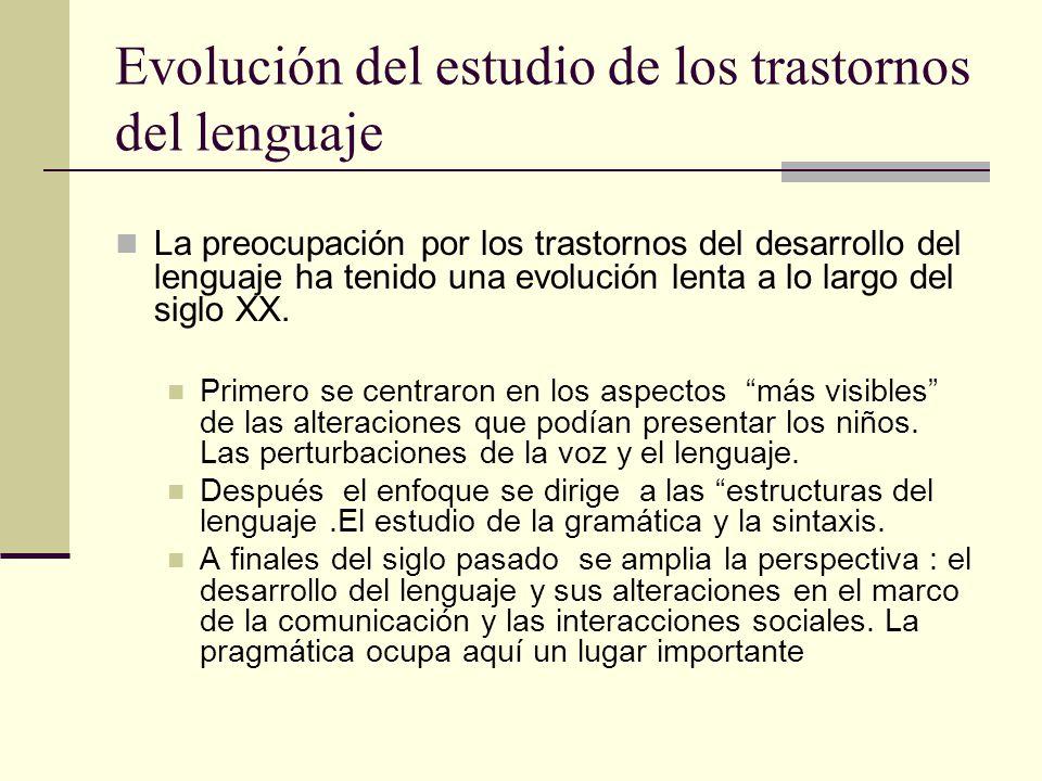 Evolución del estudio de los trastornos del lenguaje