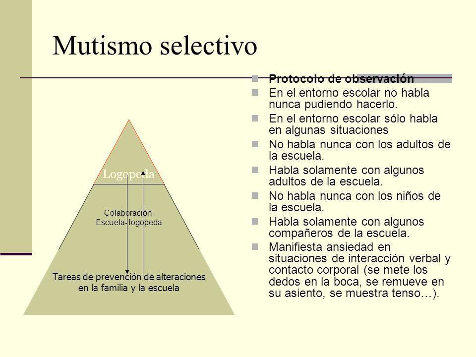 Mutismo selectivo Protocolo de observación