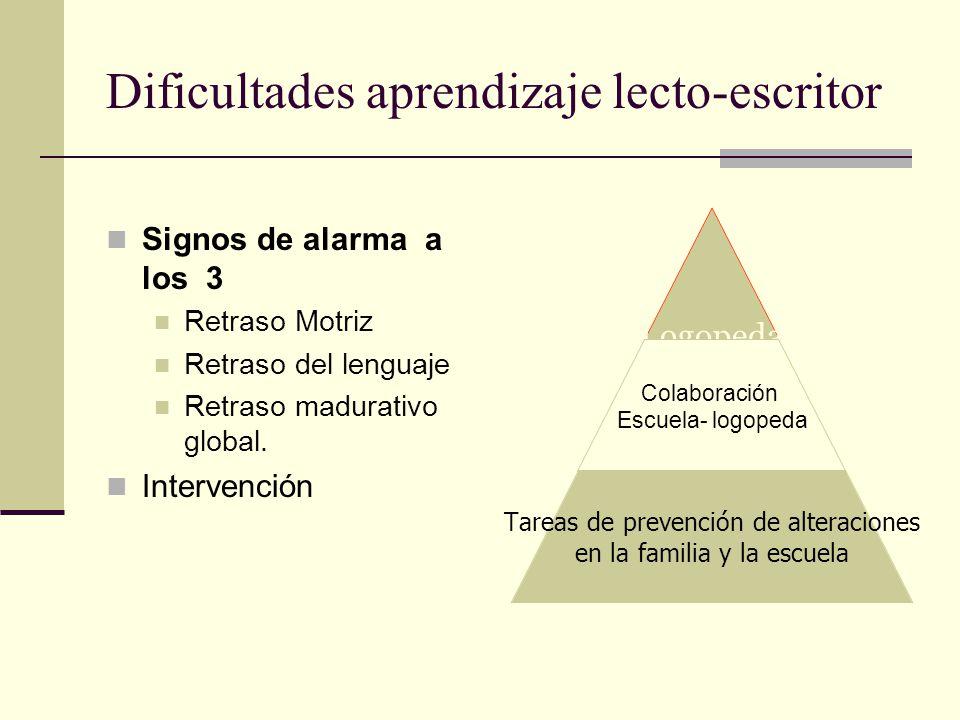 Dificultades aprendizaje lecto-escritor