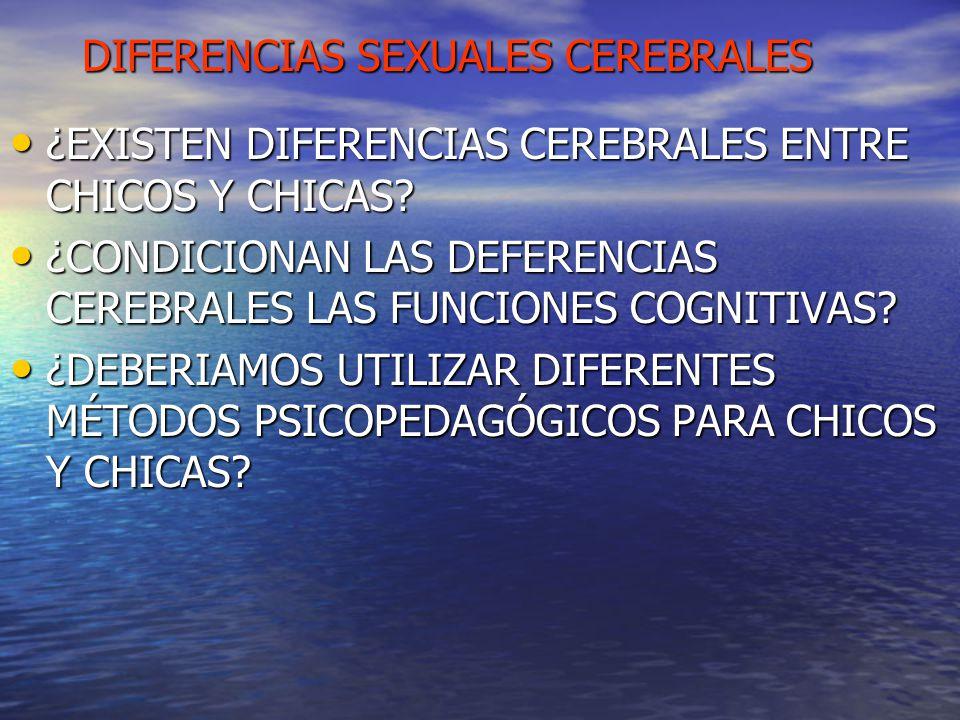 DIFERENCIAS SEXUALES CEREBRALES