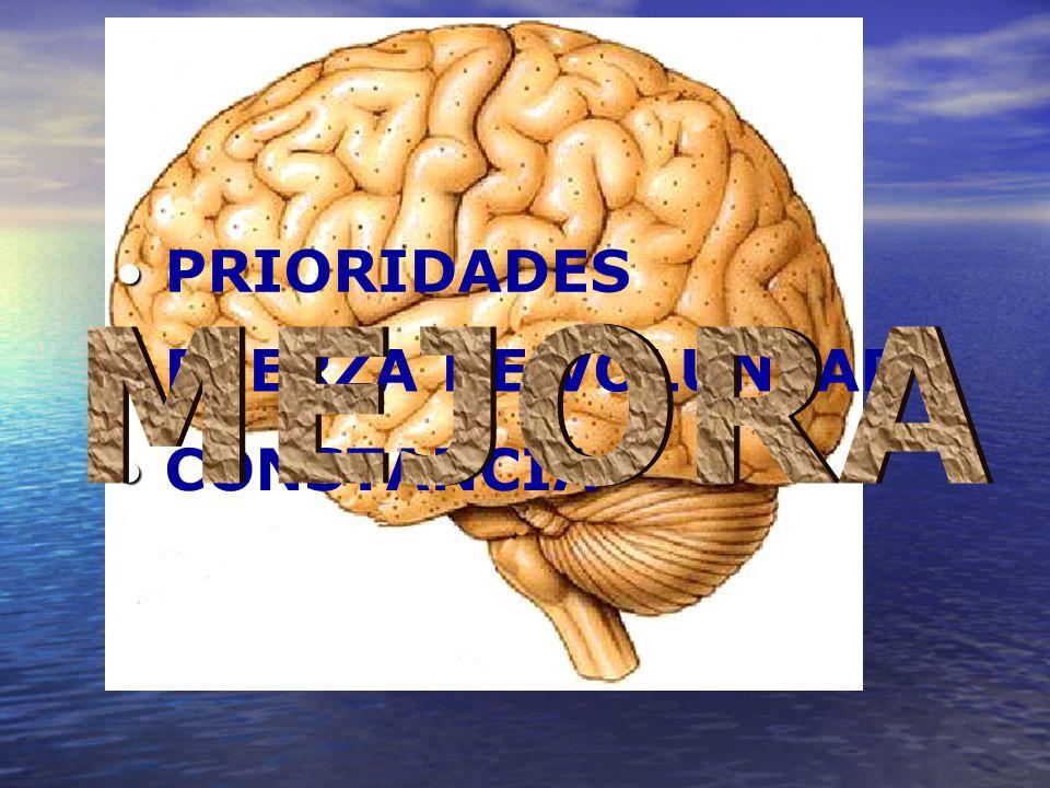 PRIORIDADES MEJORA FUERZA DE VOLUNTAD CONSTANCIA
