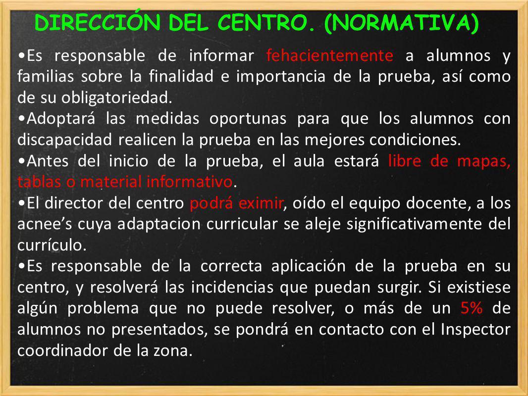 DIRECCIÓN DEL CENTRO. (NORMATIVA)