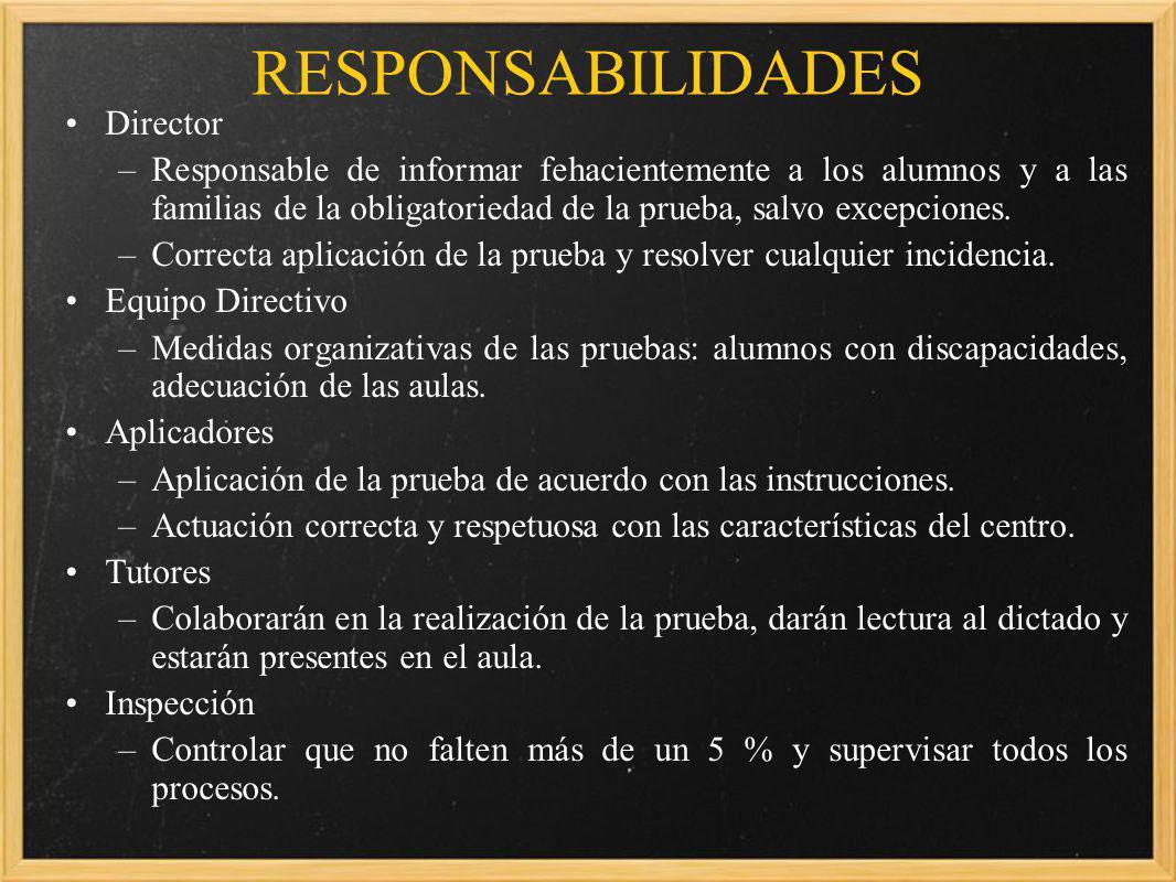 RESPONSABILIDADES Director