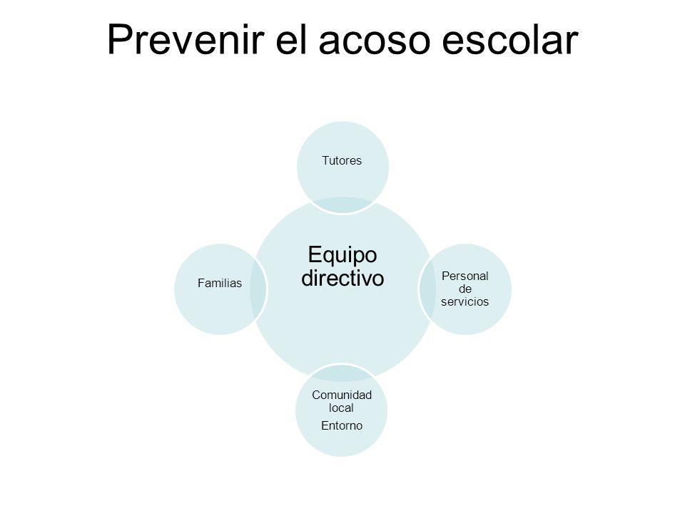 Prevenir el acoso escolar