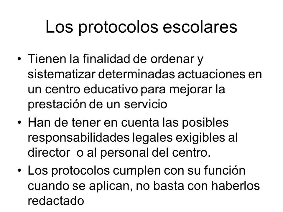 Los protocolos escolares