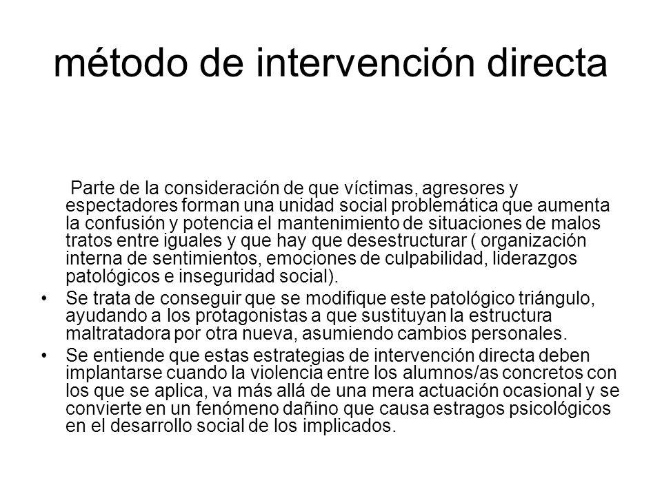 método de intervención directa