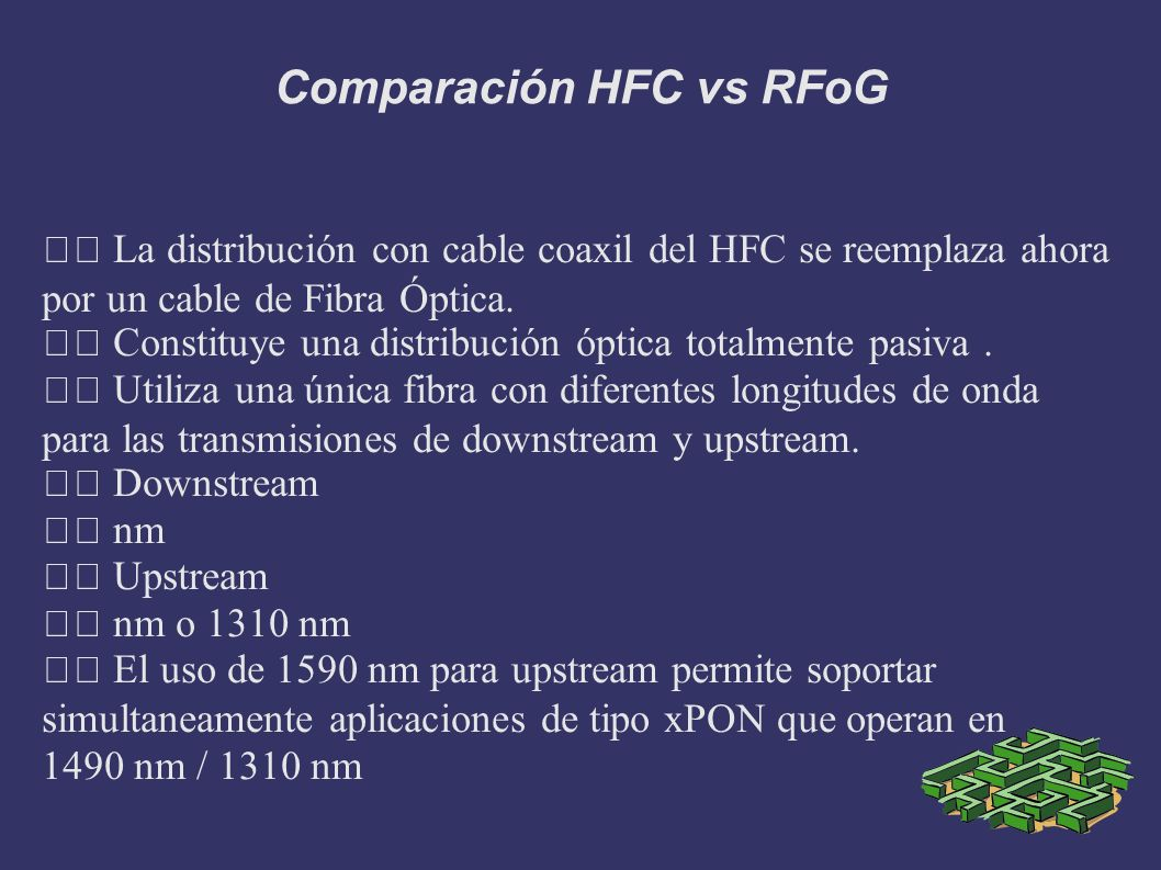 Comparación HFC vs RFoG