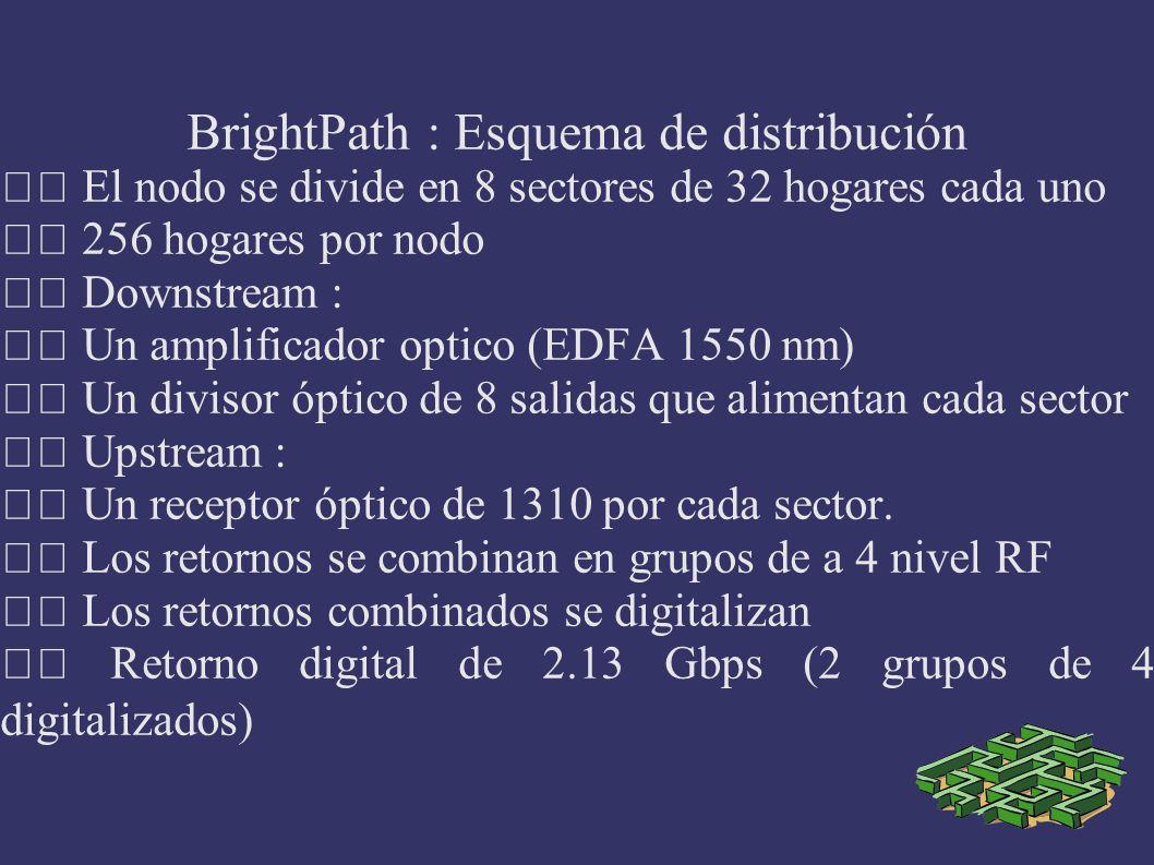 BrightPath : Esquema de distribución