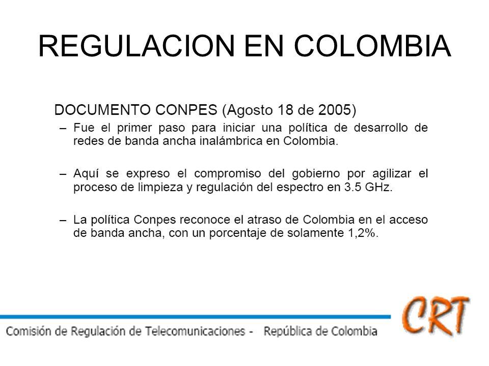 REGULACION EN COLOMBIA