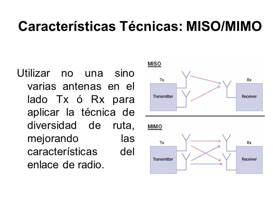 Características Técnicas: MISO/MIMO
