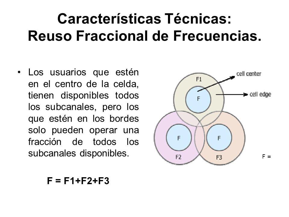 Características Técnicas: Reuso Fraccional de Frecuencias.