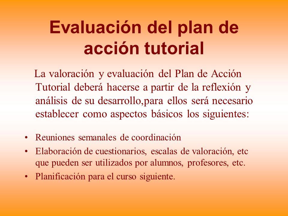 Evaluación del plan de acción tutorial
