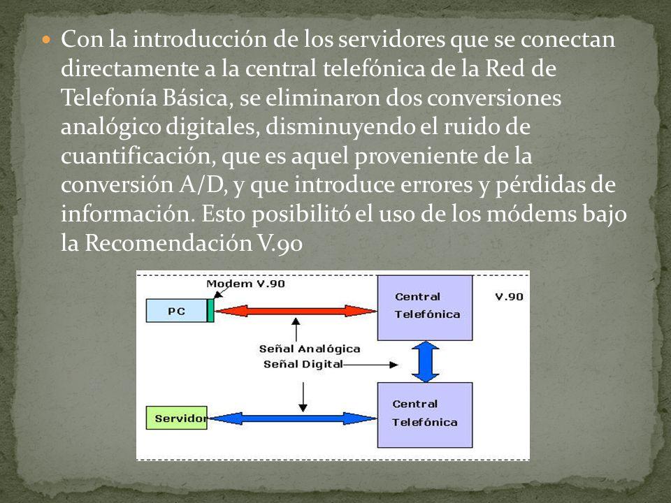 Con la introducción de los servidores que se conectan directamente a la central telefónica de la Red de Telefonía Básica, se eliminaron dos conversiones analógico digitales, disminuyendo el ruido de cuantificación, que es aquel proveniente de la conversión A/D, y que introduce errores y pérdidas de información.