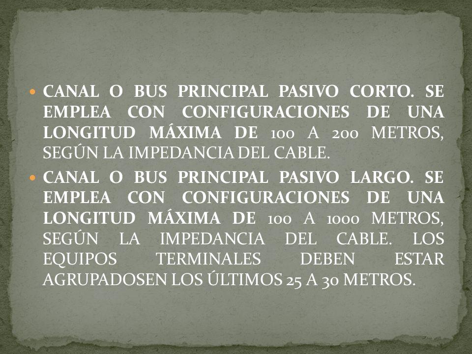CANAL O BUS PRINCIPAL PASIVO CORTO