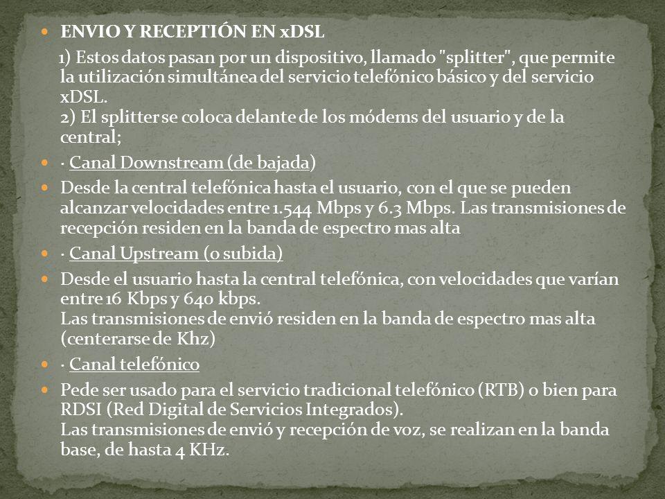 ENVIO Y RECEPTIÓN EN xDSL