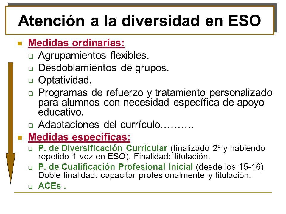 Atención a la diversidad en ESO