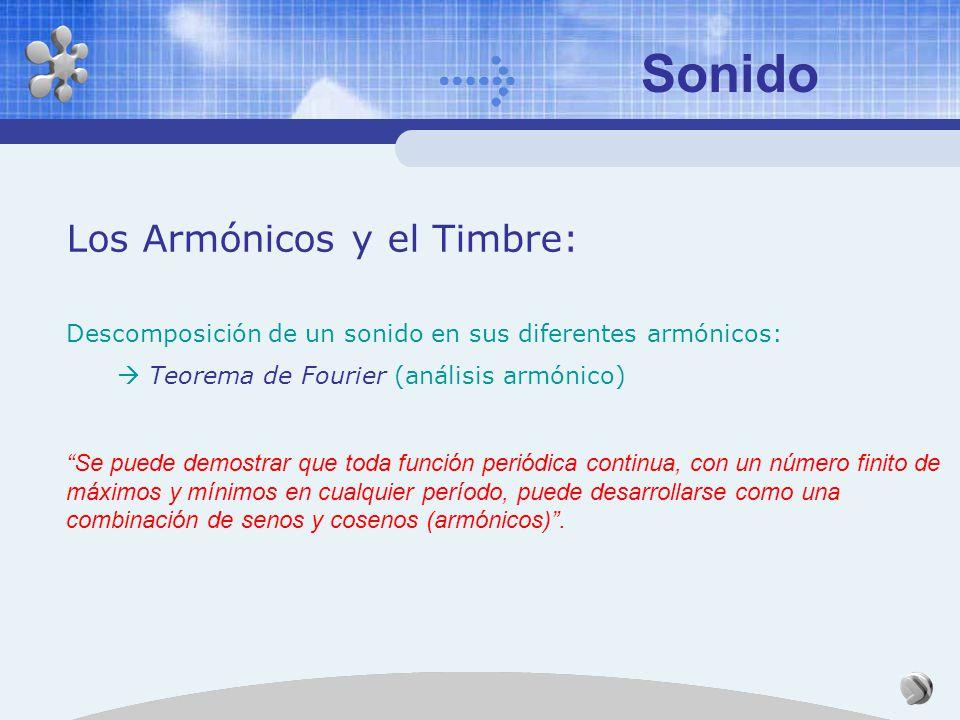 Sonido Los Armónicos y el Timbre: