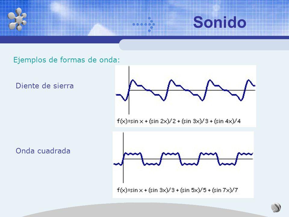 Sonido Ejemplos de formas de onda: Diente de sierra Onda cuadrada
