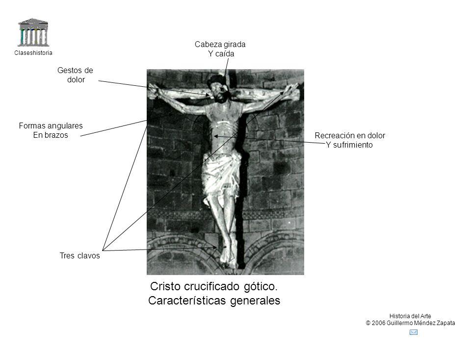 Cristo crucificado gótico. Características generales