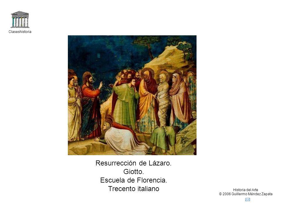 Resurrección de Lázaro. Giotto. Escuela de Florencia.