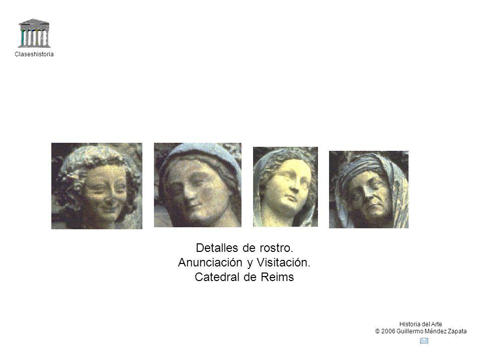 Anunciación y Visitación. Catedral de Reims