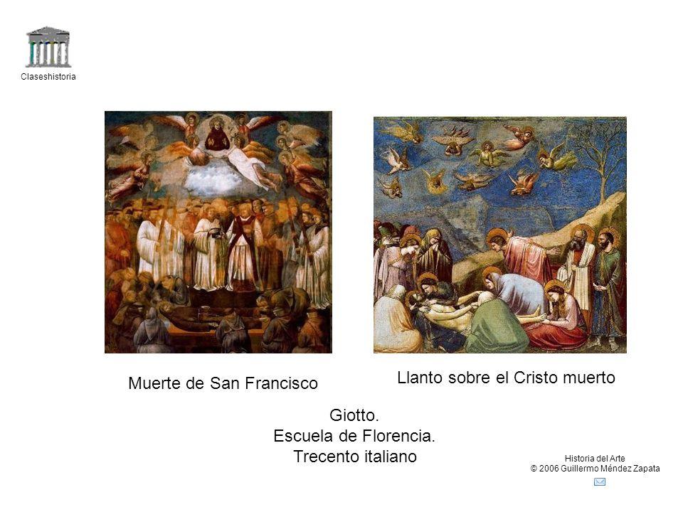 Llanto sobre el Cristo muerto Muerte de San Francisco